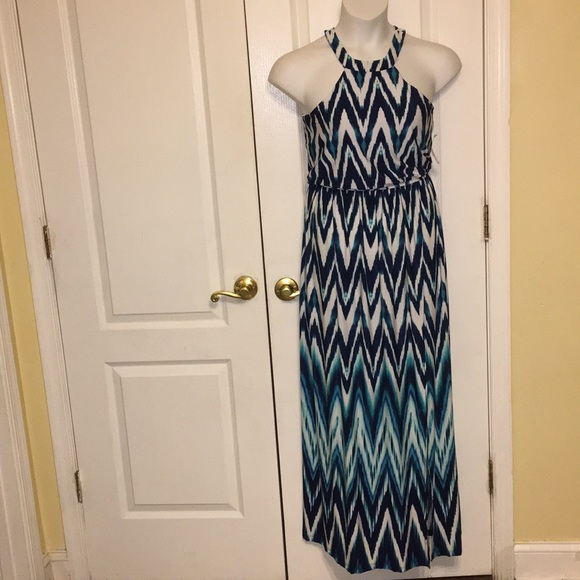a626210ef Trixxi Dresses | Junior Knit Halter Maxi Dress Ivorygreen | Poshmark